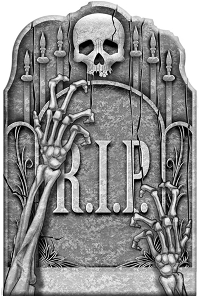 Cemetery Ghostly Arms Tombstone 22in