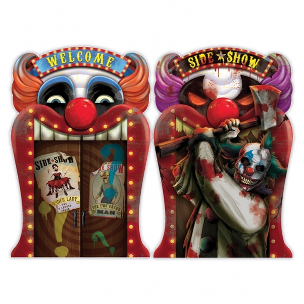 Creepy Carnival Sideshow Lenticular Sign