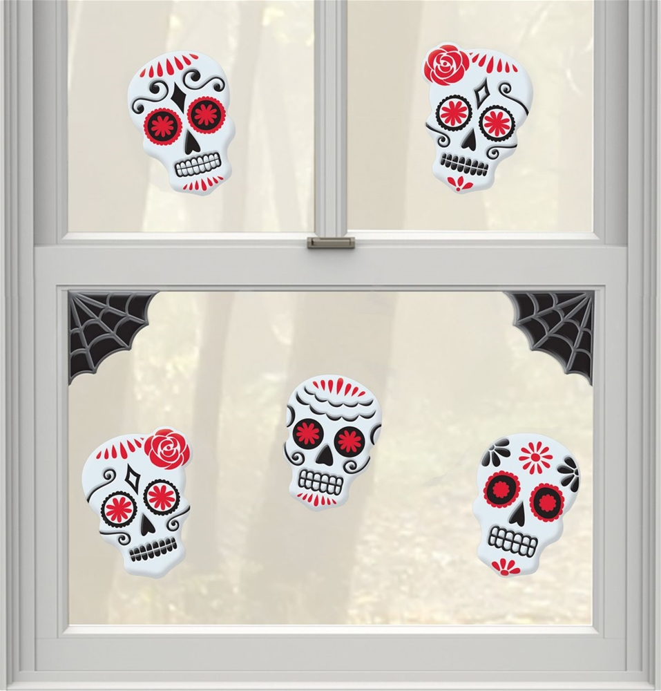 Day of the Dead Small Gel Clings  359802