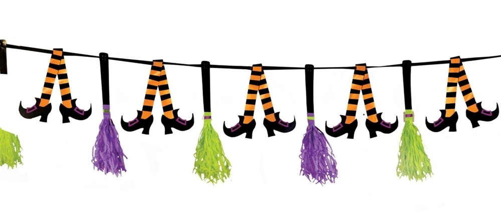Witches' Crew Paper Tassel Garland 10ft