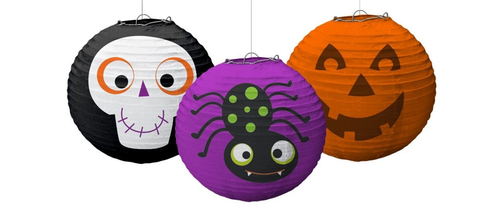 Family Friendly Halloween Paper Lanterns 3ct