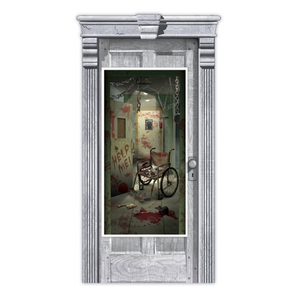 Decorating Ideas > AsylumCorridorDoorDecoration – ACCESSORYGATE ~ 074650_Halloween Asylum Door Prop