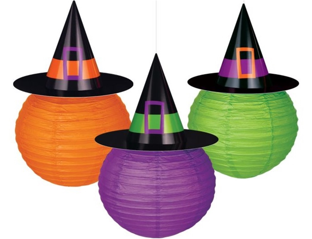 Witches' Crew Paper Lanterns 3ct