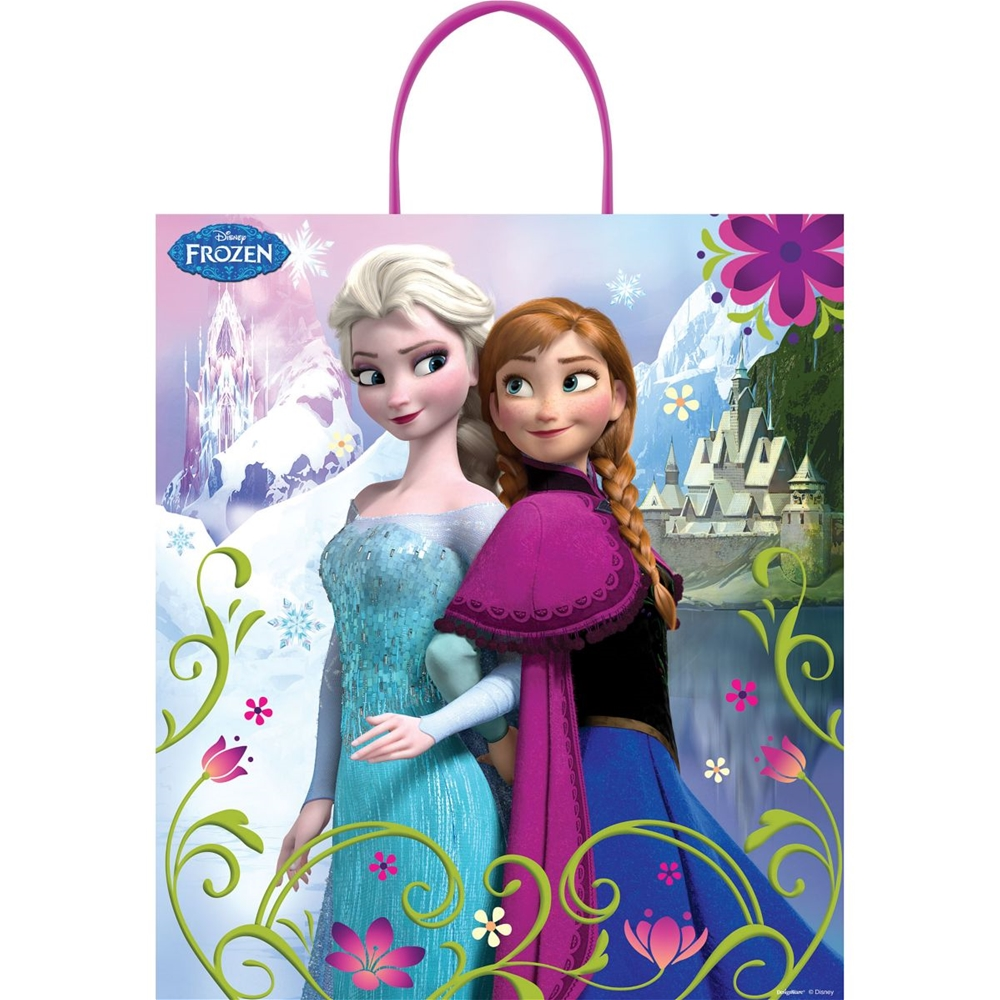 Frozen Sisters Treat Bag with Plastic Handle