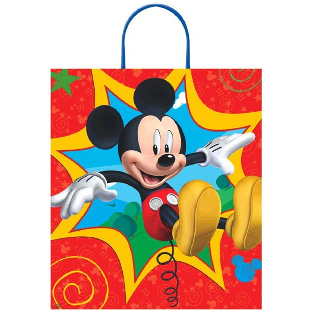 Mickey Mouse Deluxe Plastic Loot Bag