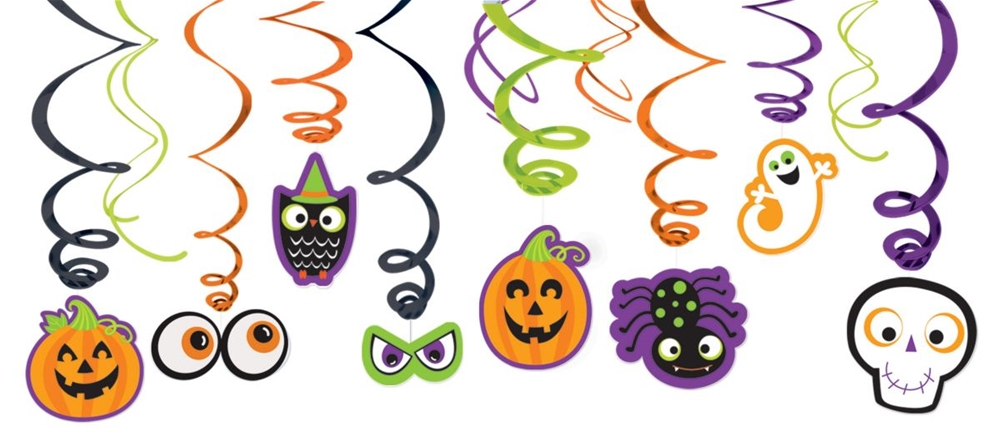 Family Friendly Halloween Foil Swirl Decorations
