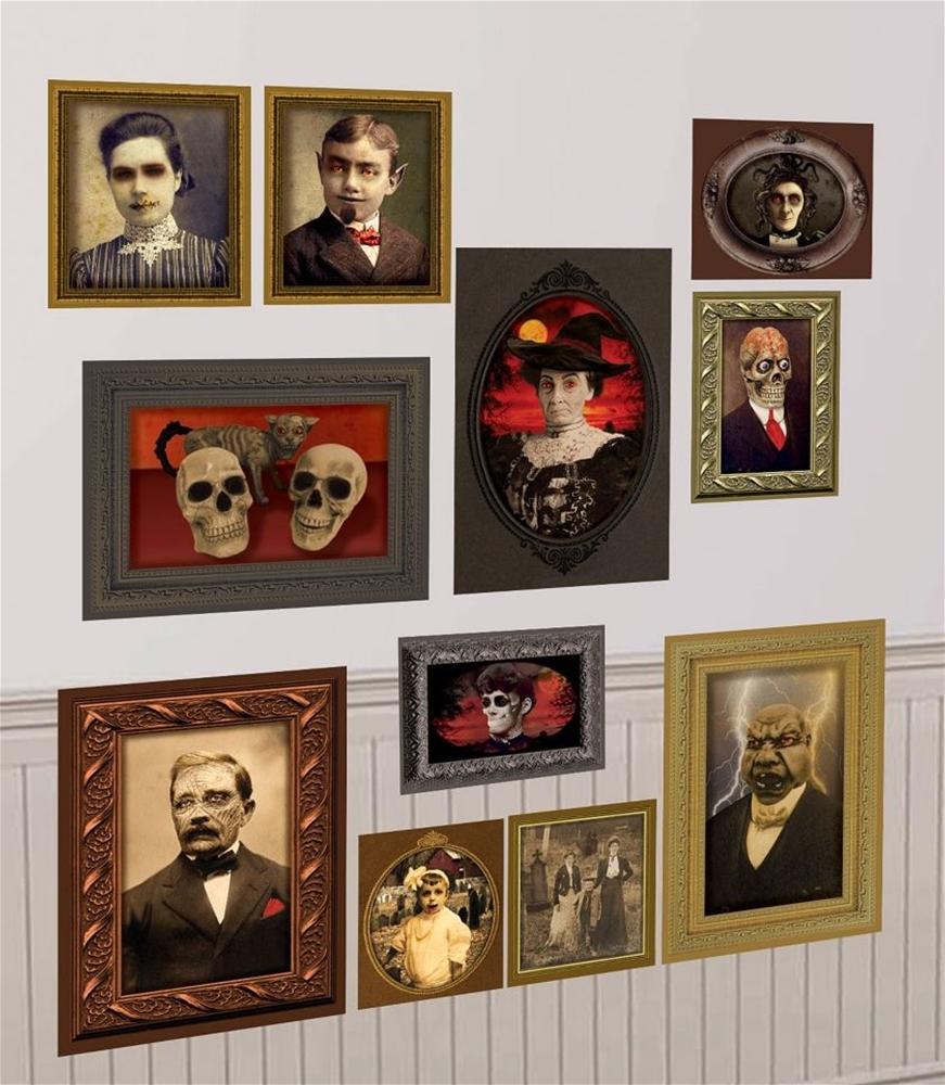 Gothic Mansion Wall Portraits Add-On