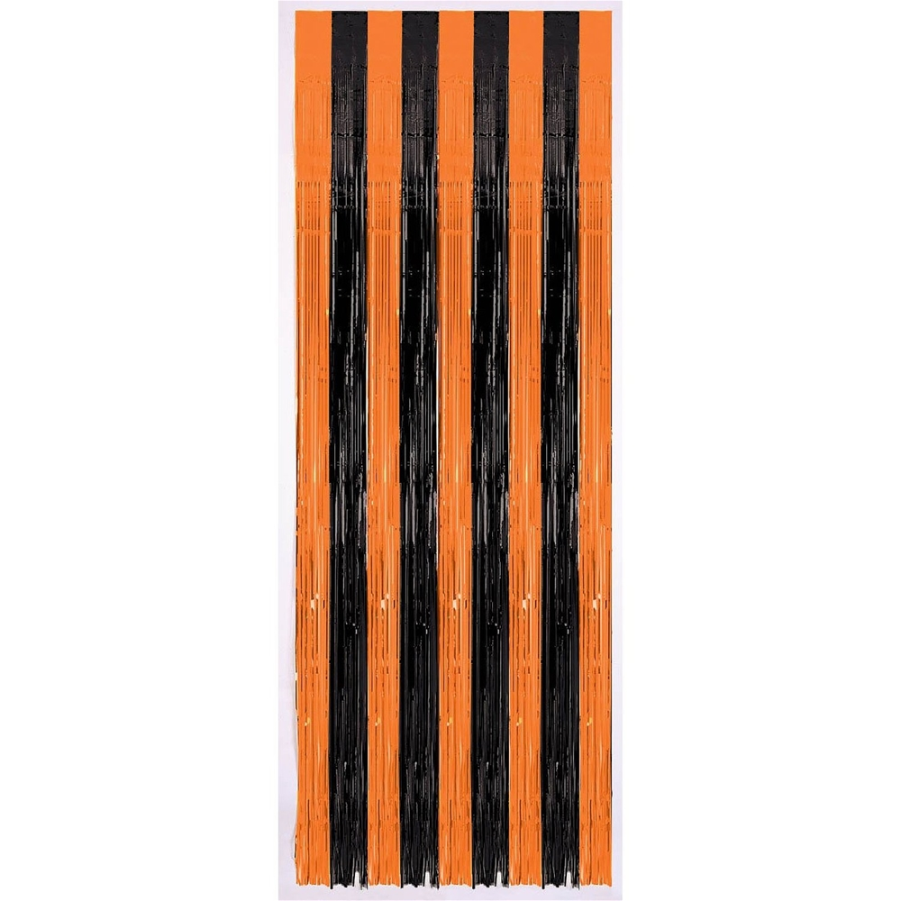 Black & Orange Halloween Door Curtain