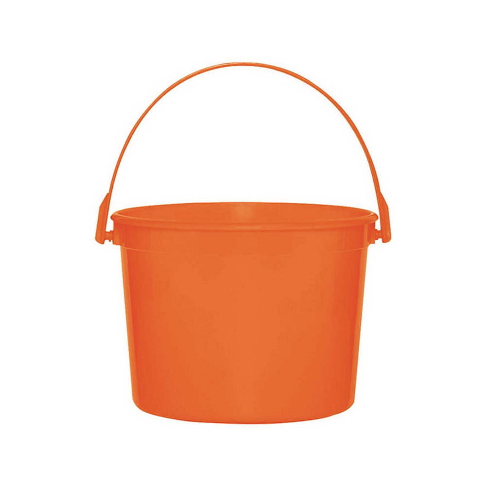 Plastic Orange Bucket with Handle