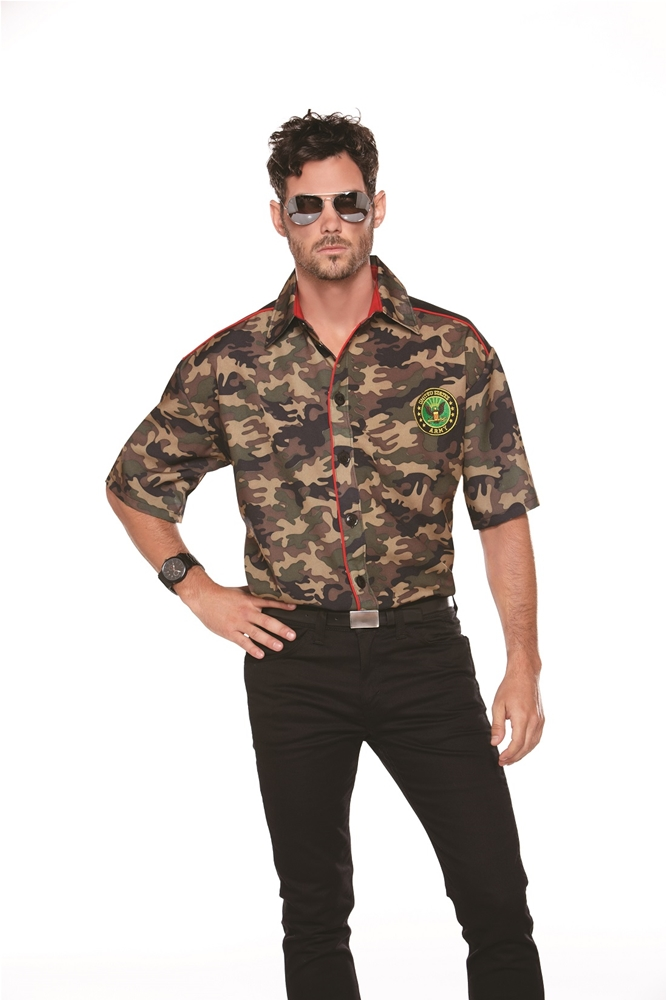 Army Camo Adult Mens Shirt