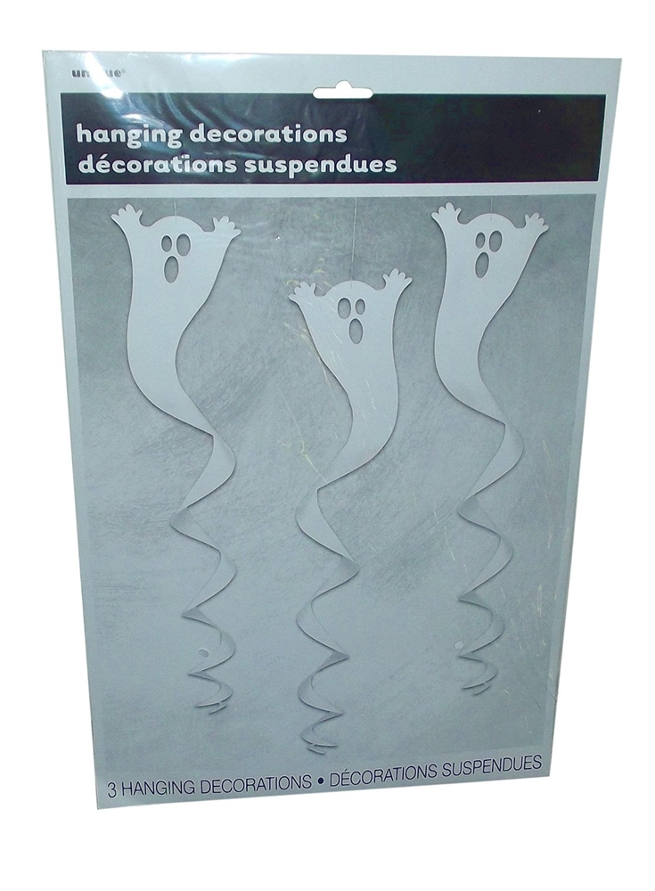 Ghost Spiral Hanging Decorations 3ct