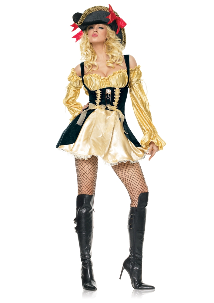 [Marauder Pirate Wench Adult Womens Costume] (Wench Womens Costumes)