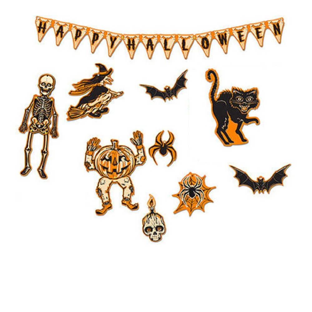 [Mini Halloween Decorations in a Tin] (Halloween Decorations)