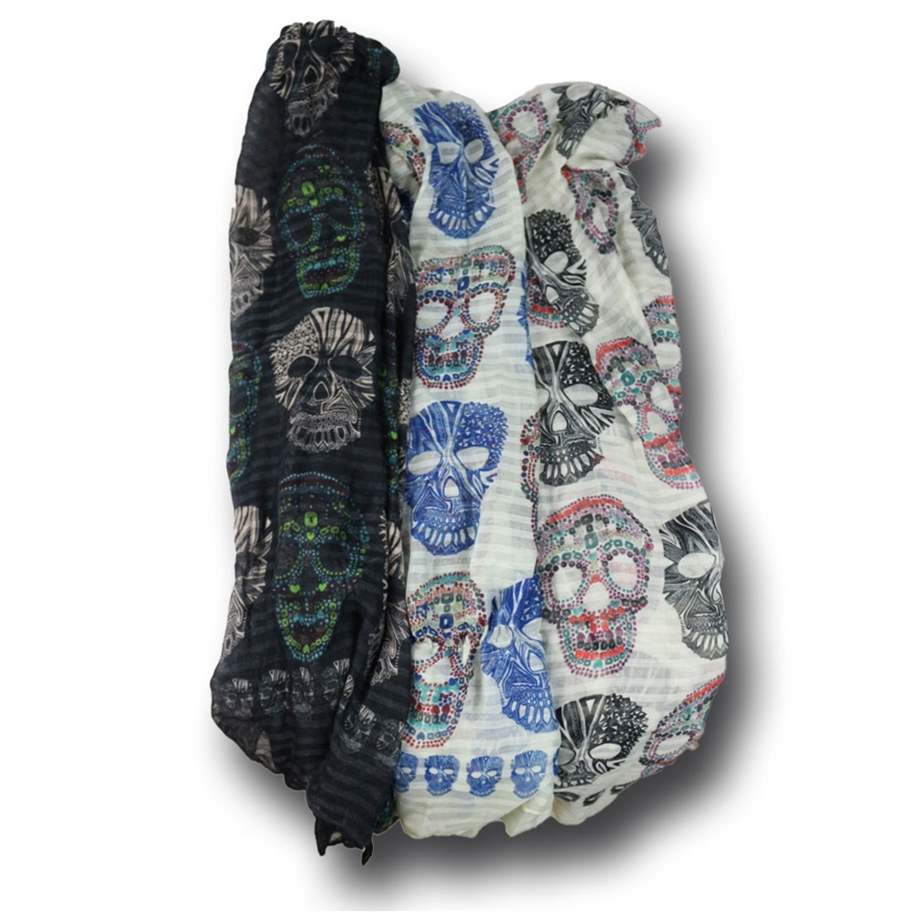 Day of the Dead Sugar Skull Scarf (More Colors)