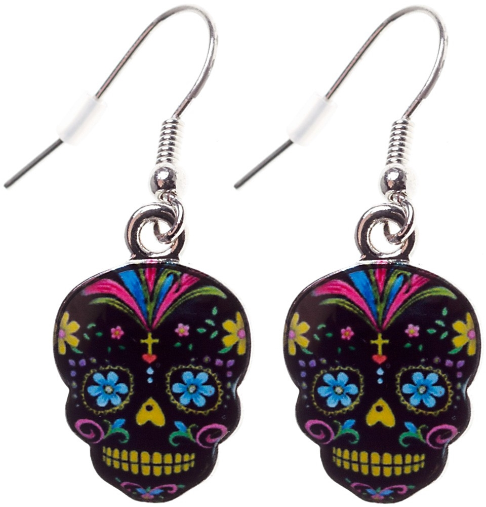 Day of the Dead Sugar Skull Earrings (More Colors)