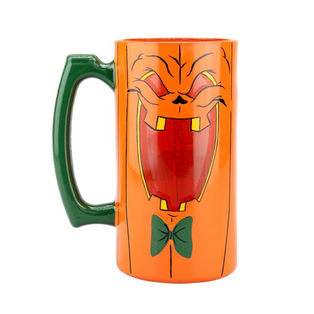 Beer-O-Lantern Halloween Stein Glass 26oz