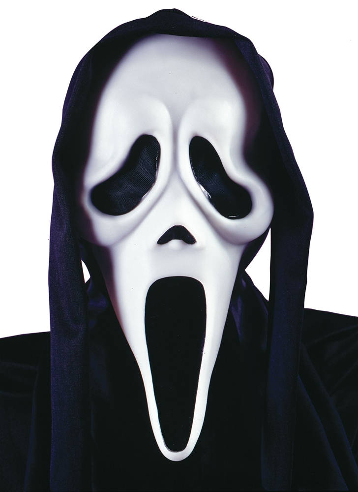 Scream Ghost Face Vacuform Adult Mask