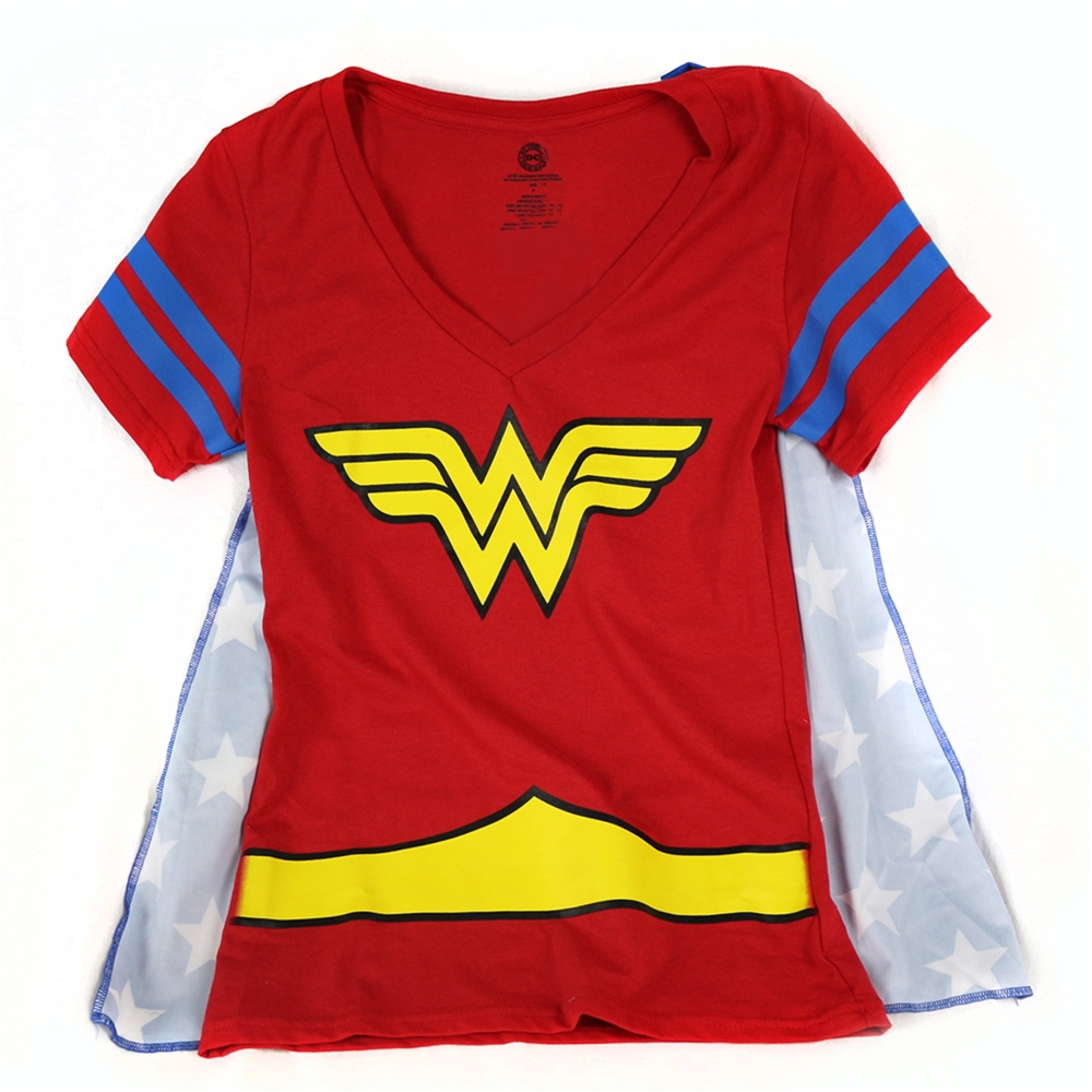 Wonder Woman V-Neck Adult Womens T-Shirt