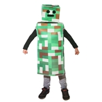 Green-Pixel-Robot-Monster-Child-Costume