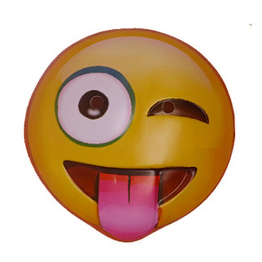 Winking Tongue Out Emoji Mask