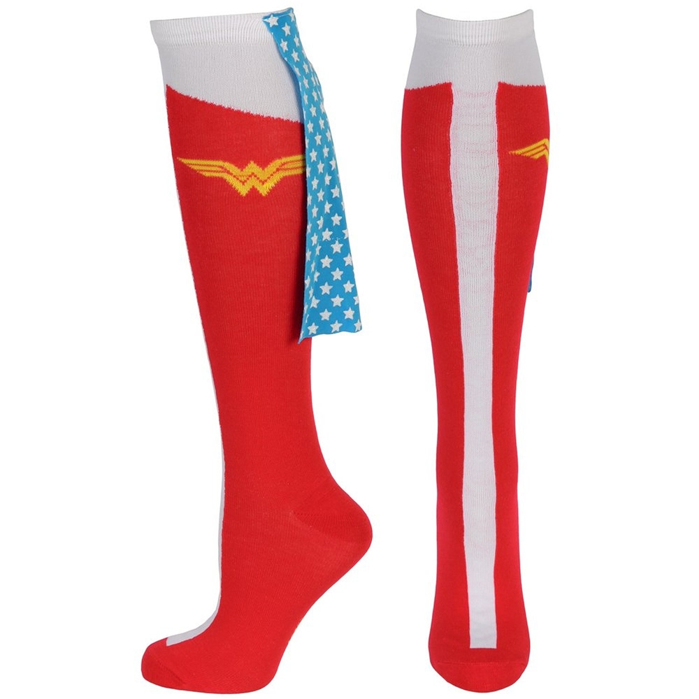 Wonder Woman Caped Boot Knee High Socks (Wonder Woman Boots)