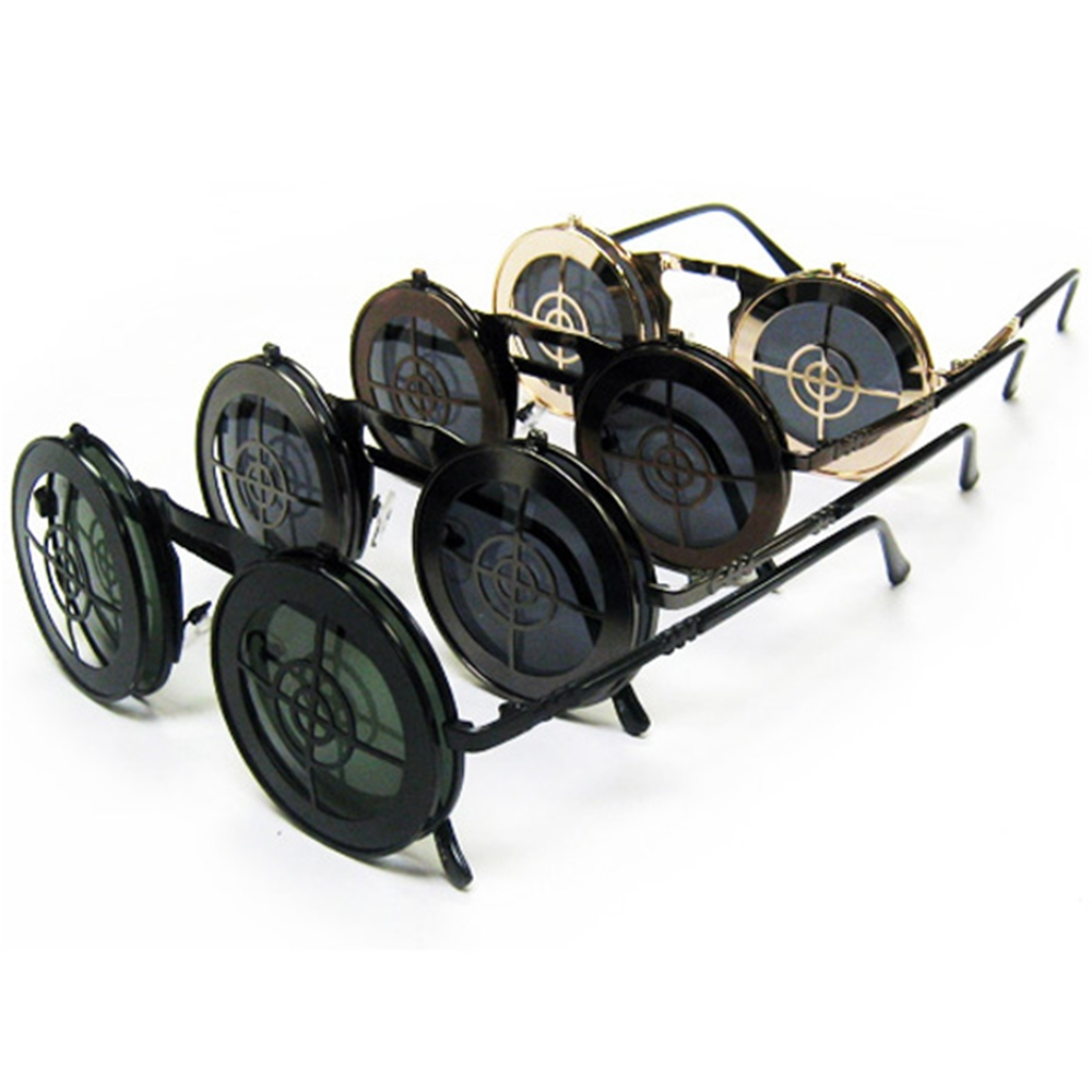 Steampunk Bullseye Flip-Up Glasses (More Colors)