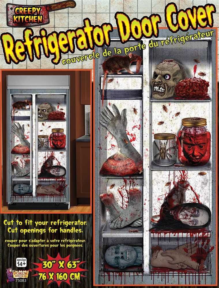 Mutilated Body Parts Refrigerator Door Cover  370776  ~ 185336_Halloween Refrigerator Door Cover