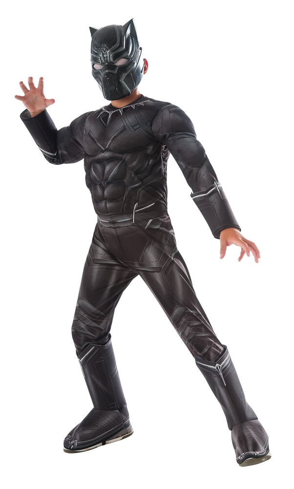 [Captain America: Civil War Deluxe Black Panther Child Costume] (Black Panther Civil War Costume)