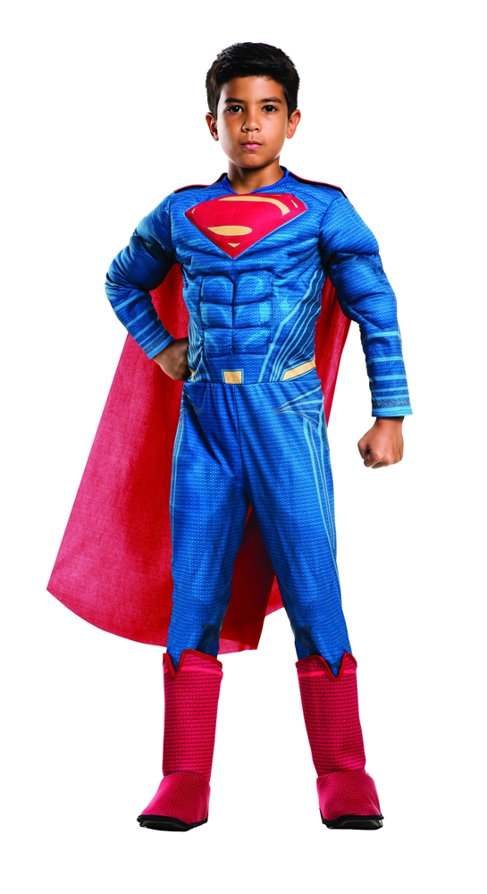 [Batman v Superman Deluxe Superman Child Costume] (Costumes Superman)