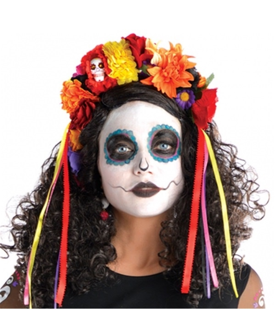 Day of the Dead Deluxe Floral Headband
