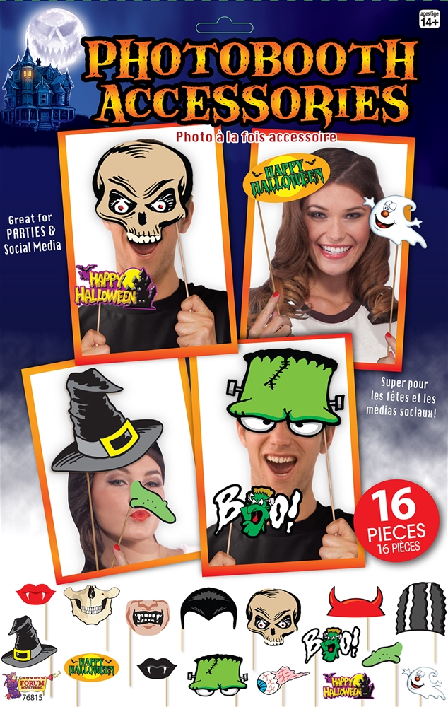 Halloween Photo Booth Kit 16pc 76815