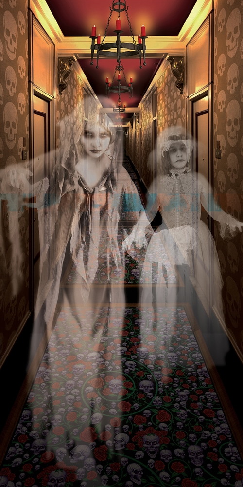 Haunted House Hallway Door Cover 371896