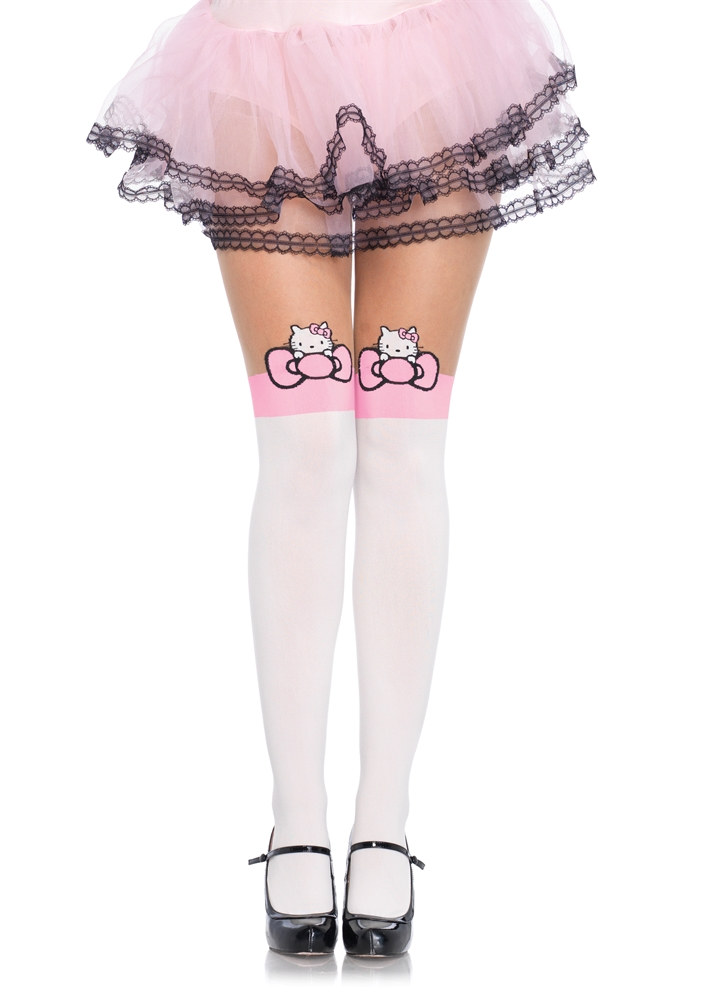 Hello Kitty Pink Bow Pantyhose