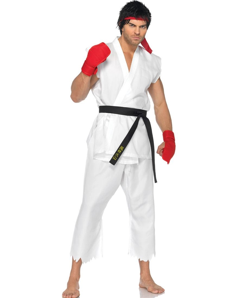 [Street Fighter Ryu Adult Mens Costume] (Ryu Costume)