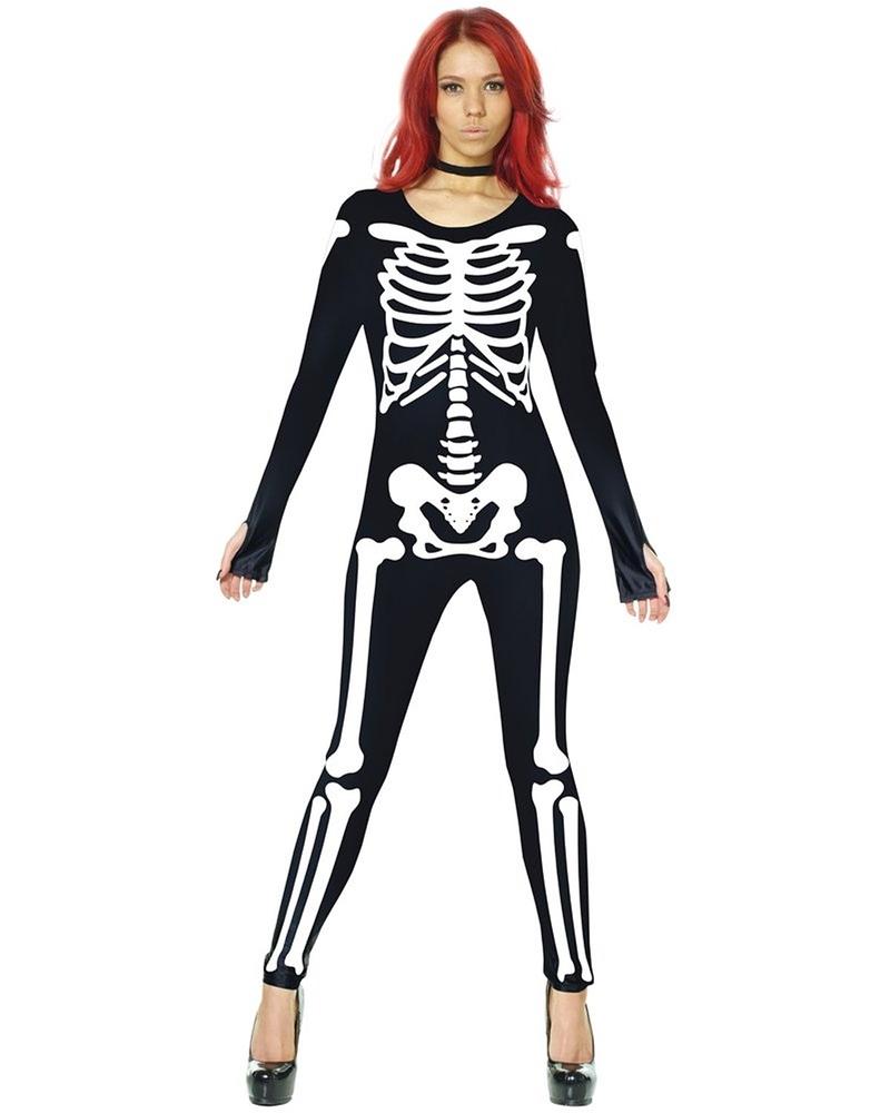 Skeleton Morphsuit Adult Womens Costume (Womens Skeleton Costume)
