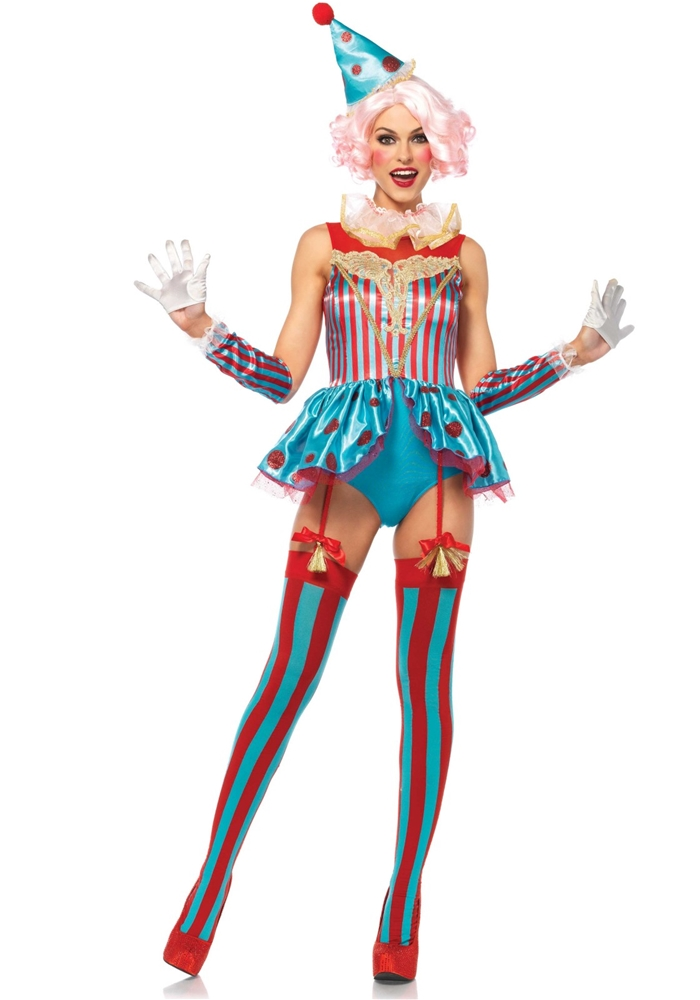 Delightful Circus Clown Adult Womens Costume