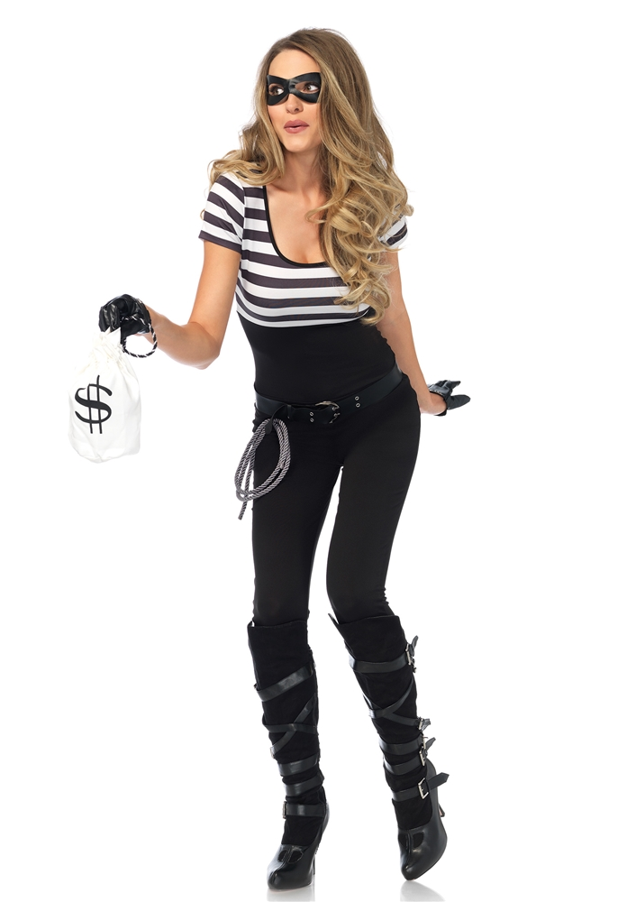 Bank Robbin' Bandit Adult Womens Costume