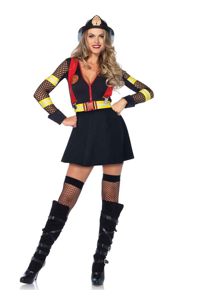 Red Hot Fire Captain Adult Womens Costume - 372440
