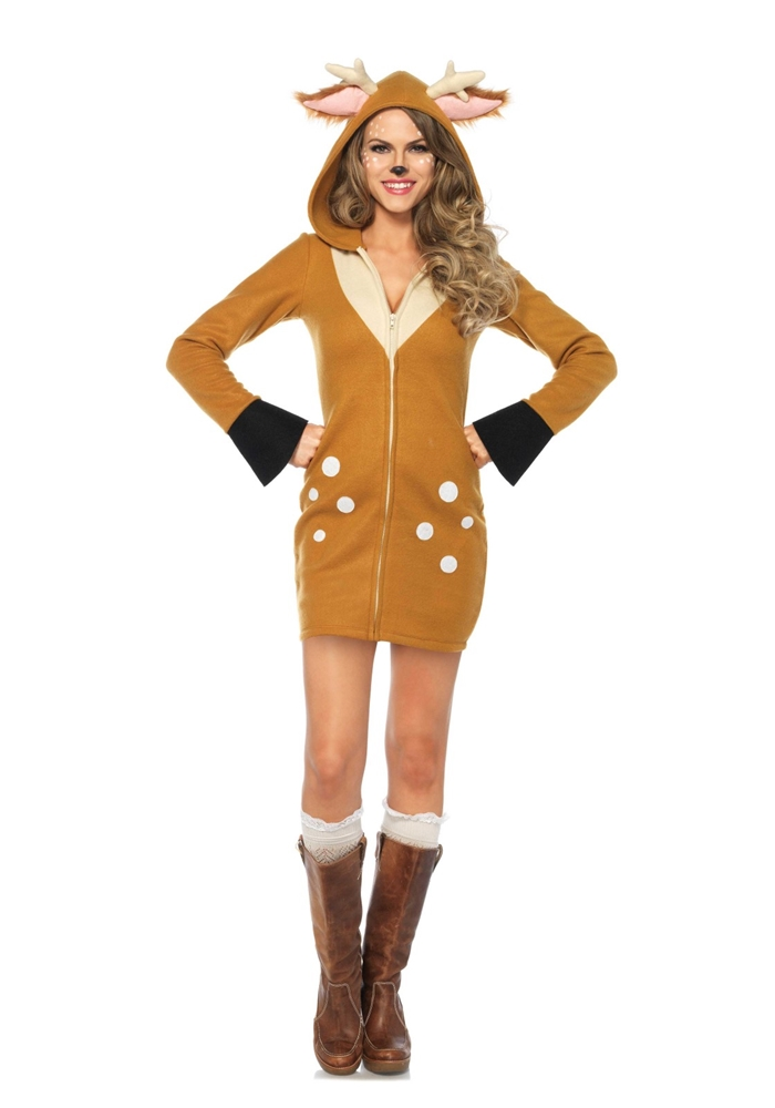 Cozy Fawn Dress Adult Womens Costume