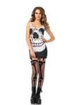 Skull-Adult-Womens-Garter-Dress