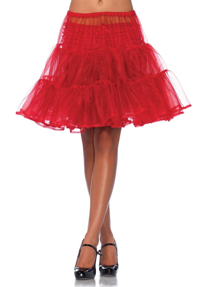 Red Shimmer Organza Petticoat