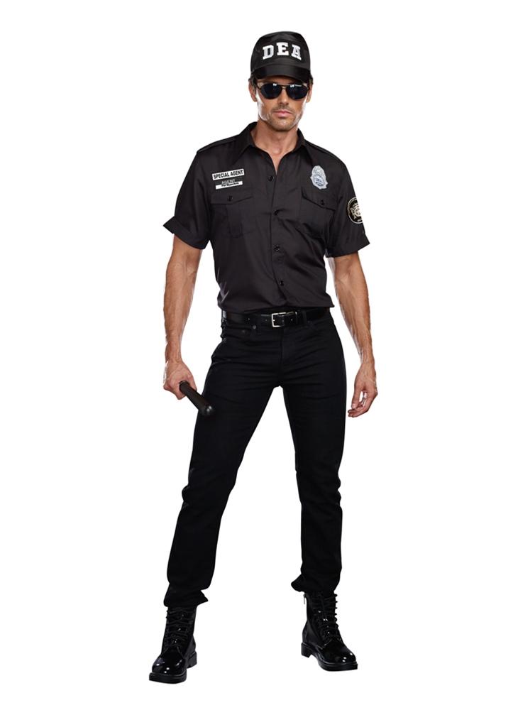 dea agent phil mypockets adult mens costume