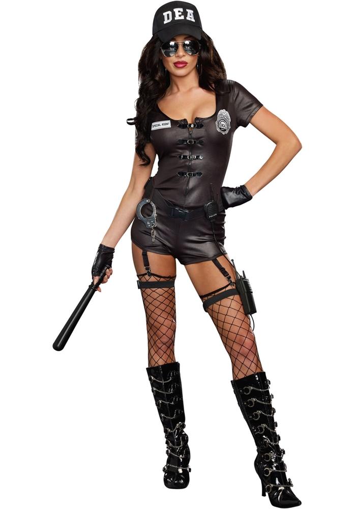DEA Secret Agent Adult Womens Costume