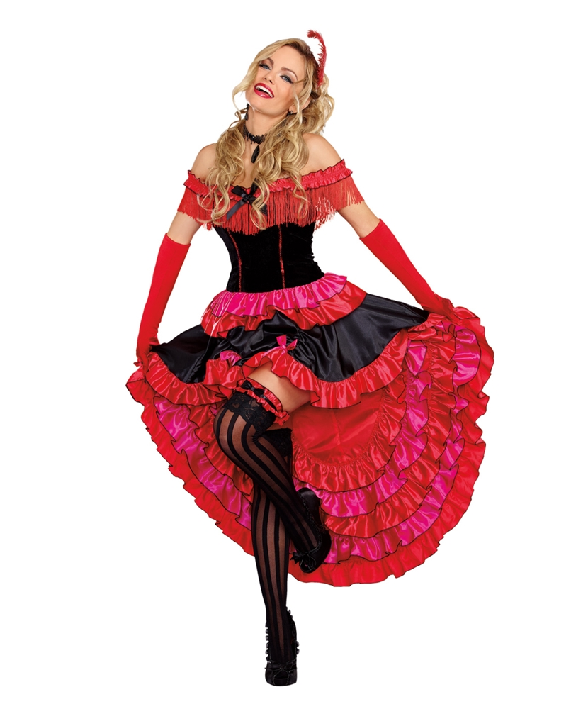 Can-Can Cutie Adult Womens Costume