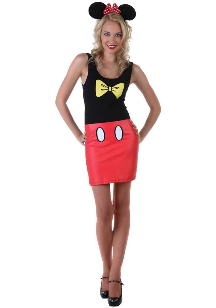 [Mickey Mouse Adult Womens Tank Dress] (Mickey Dress)