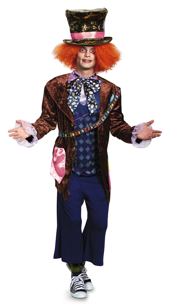 Mad Hatter Deluxe Adult Mens Costume (Men Mad Hatter Costume)