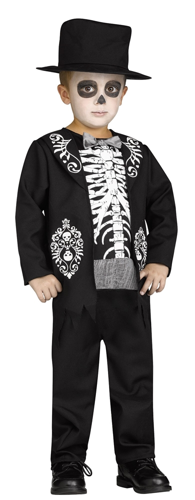 [Mini Skeleton King Toddler Costume] (Toddler King Costumes)
