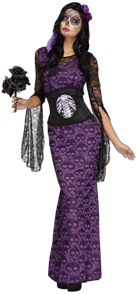 La Muerte Skull Dress Adult Womens Costume