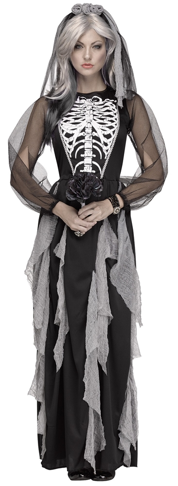 Skeleton Bride Adult Womens Costume