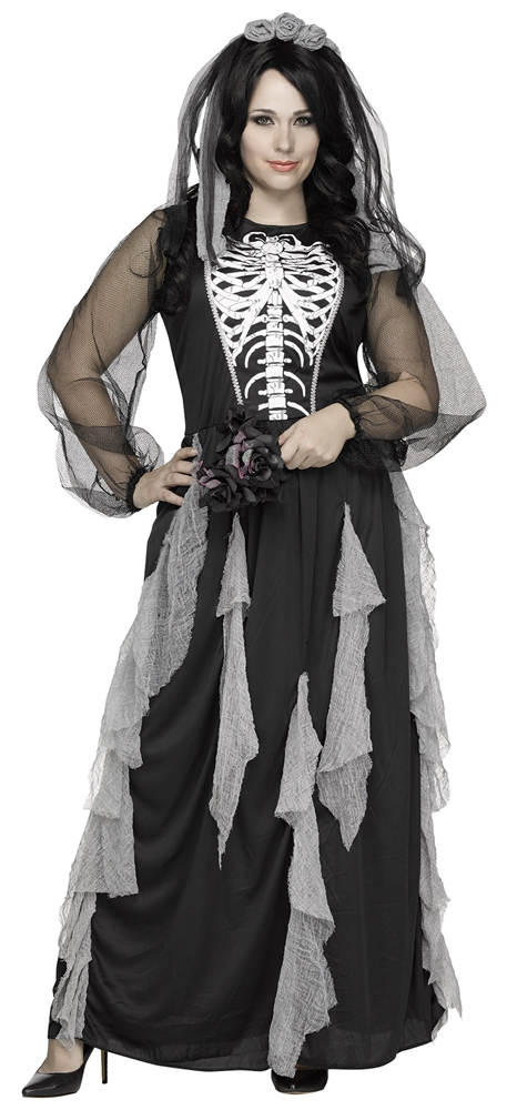 Skeleton Bride Adult Womens Plus Size Costume